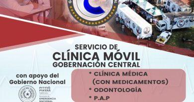 Clínicas médicas de Central estarán en Villeta este viernes 26 de abril