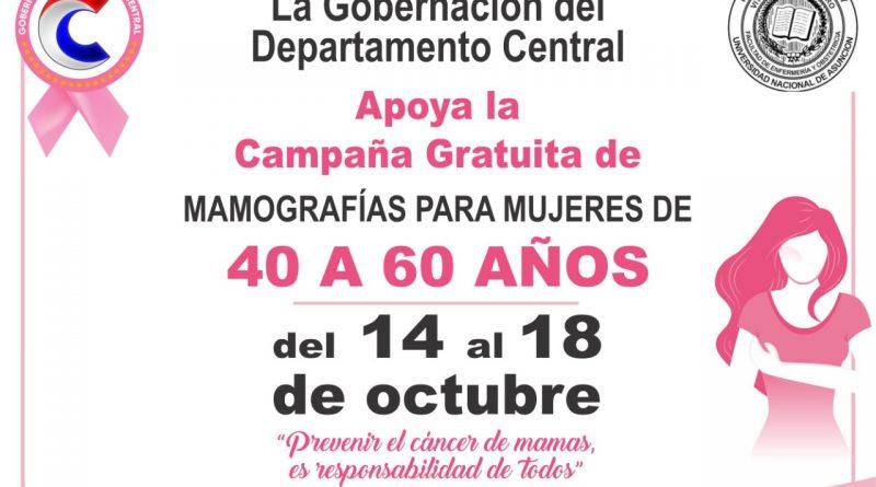Campaña Gratuita de mamografías para mujeres de 40 a 60 años