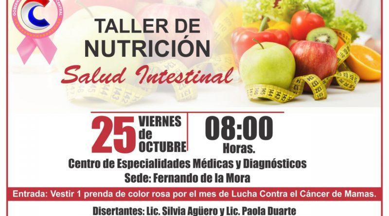 Invitan a un taller de nutrición el próximo 25 de octubre