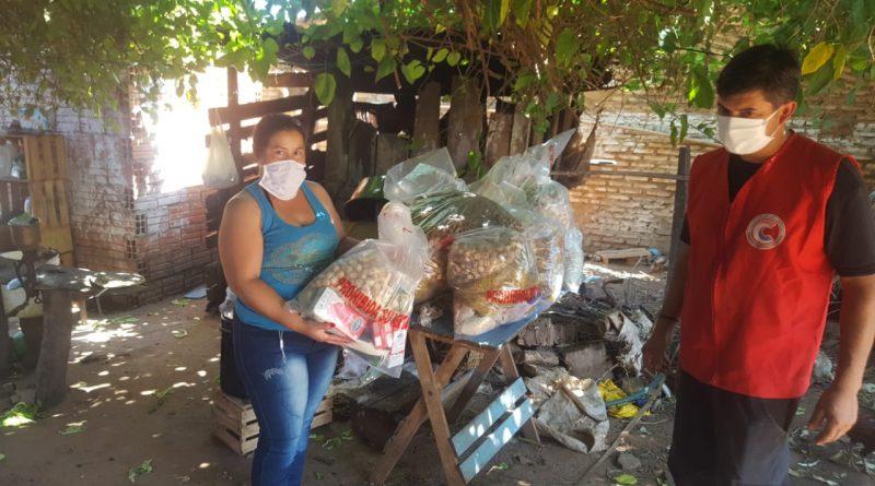 Las donaciones de alimentos llegan a distintos distritos de Central