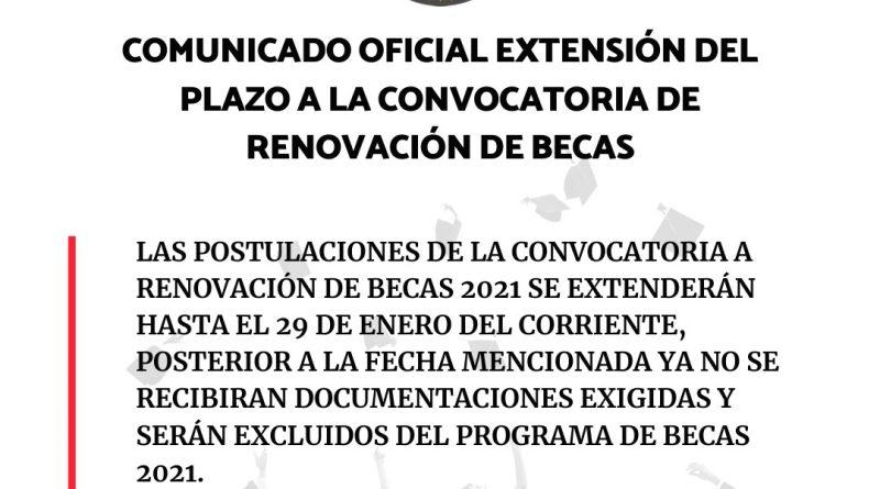 Continúan las postulaciones de la convocatoria a renovación de Becas 2021 de la Gobernación de Central